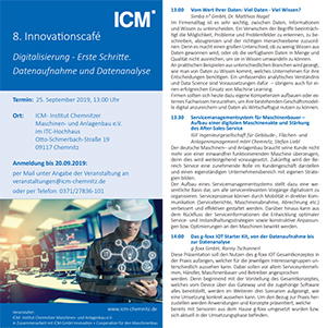 8. Innovationscafè Institut Chemnitzer Maschinen- und Anlagenbau e.V.